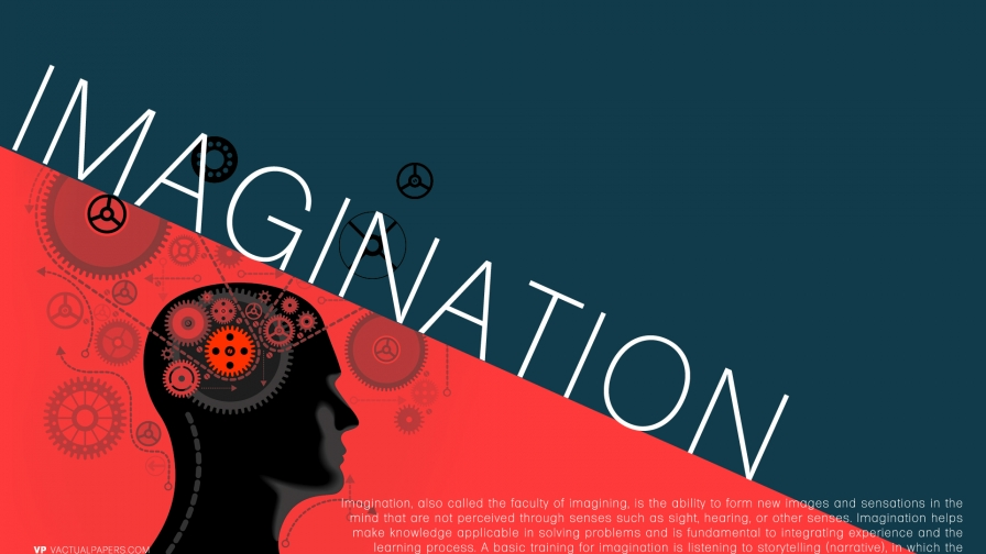 Imagination - Typography HD Wallpaper by Vactual Papers