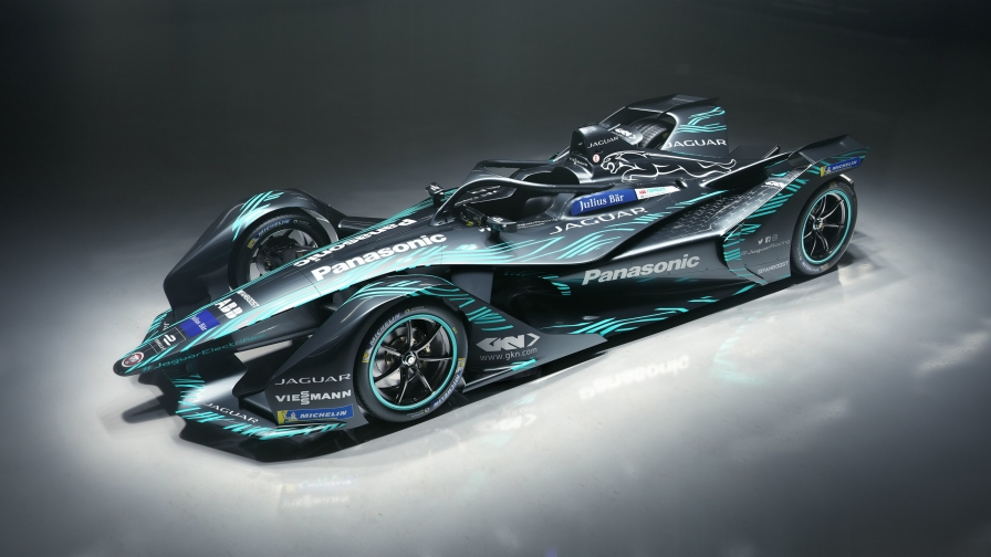 Jaguar I Type Electric Formula E Car 4k Free Wallpaper