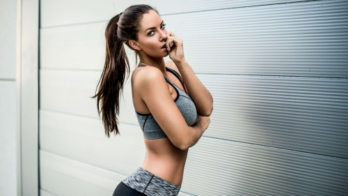 Janna Breslin Fitness Model Posting Health 4K Wallpaper