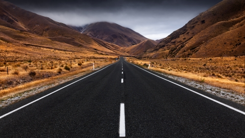 Just Follow The Road Nature HD Wallpaper