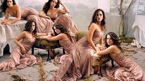Kate Beckinsale Multi Portrait Collage HD Wallpaper
