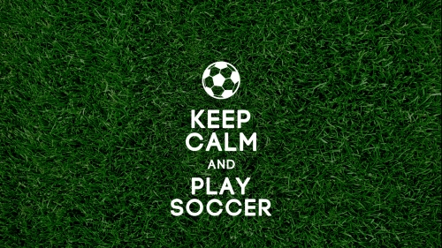 Keep Calm And Play Soccer Soccer Football Sports QHD Wallpaper
