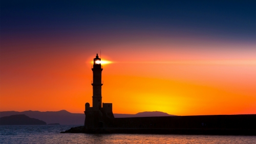 Light House At Dusk Nature QHD Wallpaper