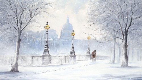 Love In The Winter Art HD Wallpaper