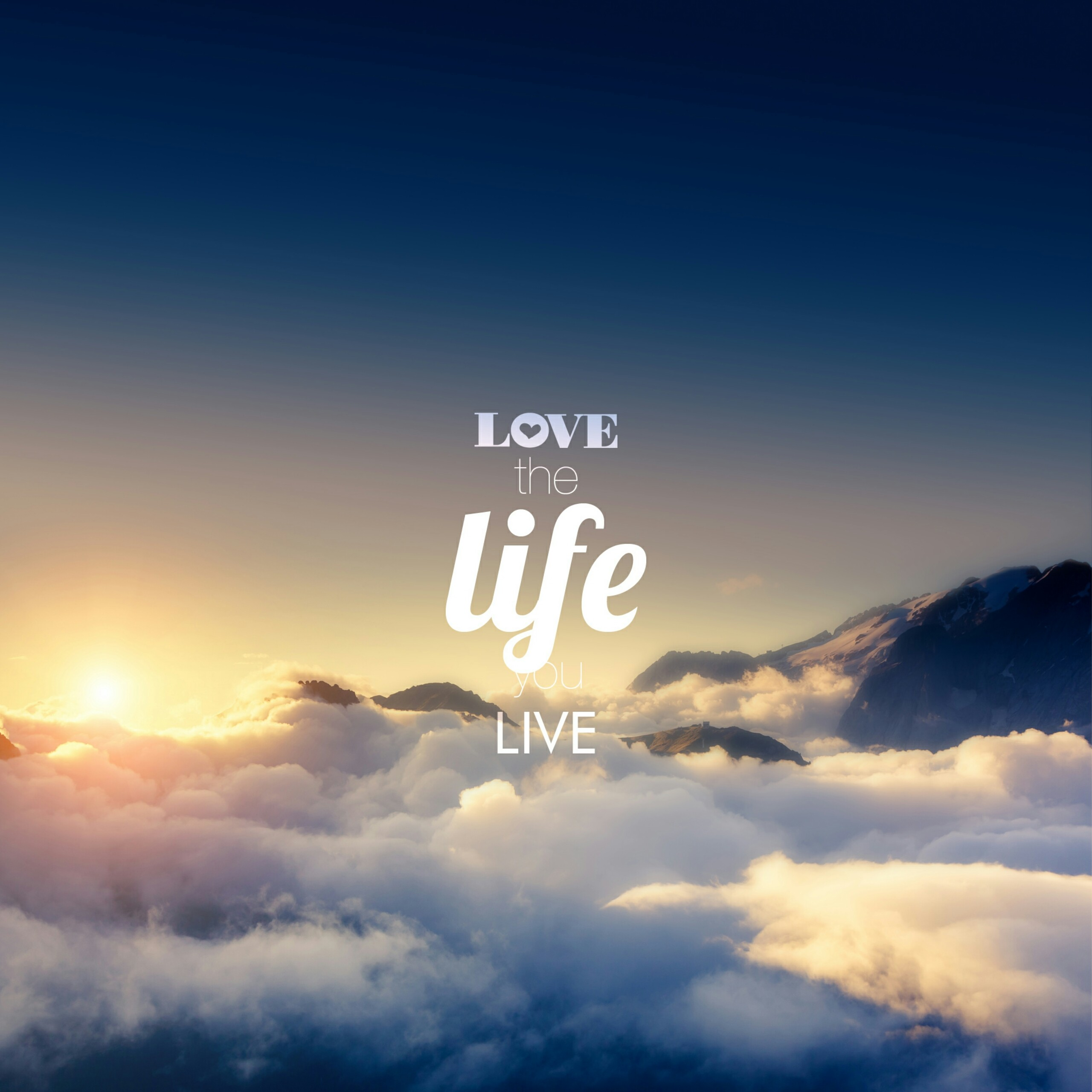 Love the Life You Live Quotes QHD Wallpaper