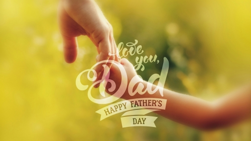 Love You Dad Happy Fathers Day Events QHD Wallpaper