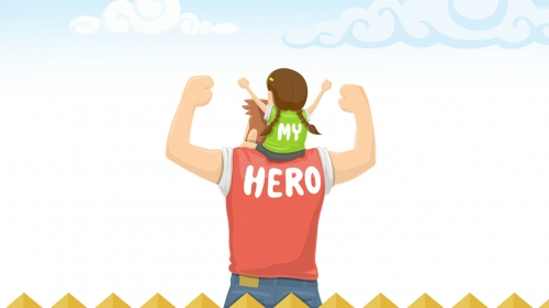 My Hero Happy Fathers Day Events QHD Wallpaper