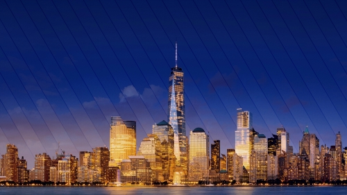 New York City Skyline at Night Cityscape QHD Wallpaper