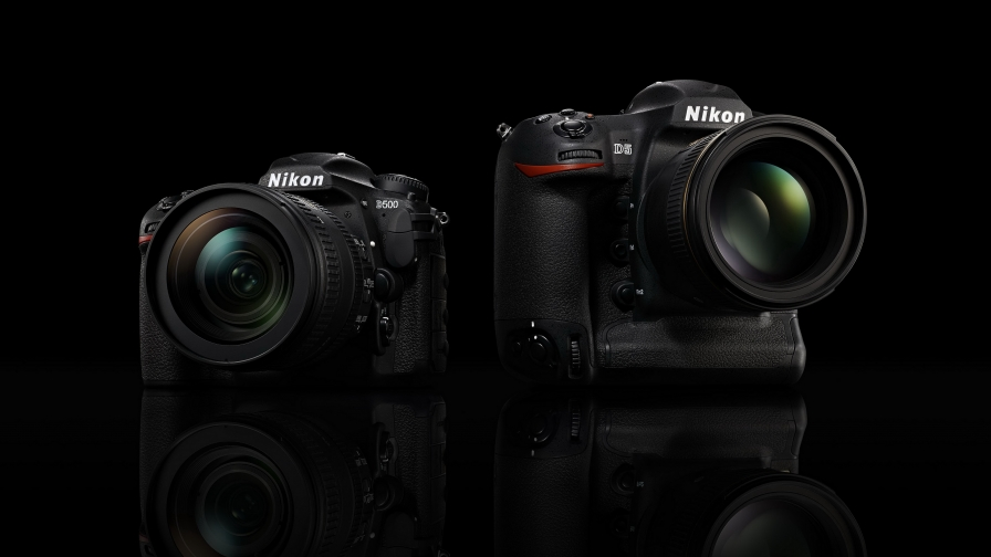 Nikon D5 And D500 DSLR Cameras HD Wallpaper