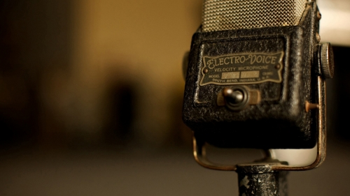 Old Vintage Microphone Creative Photography HD Wallpaper