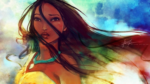Pocahontas Artistic Work Paintings 2560x1600 QHD Wallpaper 72