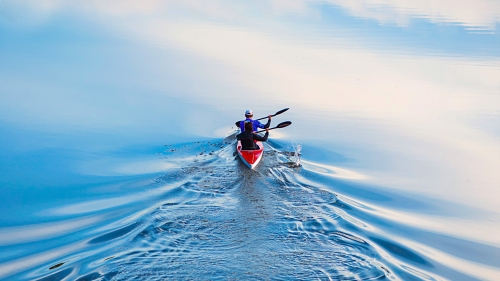 Rowing Away   Photography HD Wallpaper