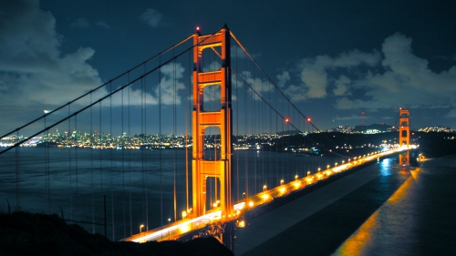 San Francisco  Golden Gate Bridge At Night Free Wallpaper