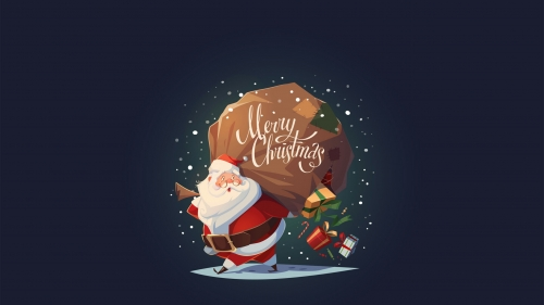 Santa Carrying A Sack Full Of Presents Events QHD Wallpaper