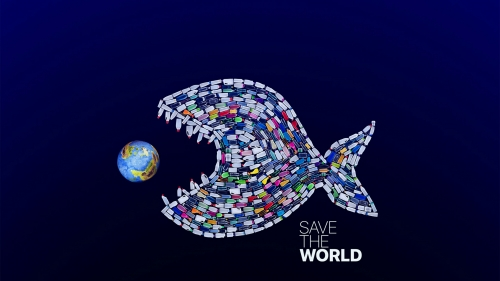 Save The World Creative QHD Wallpaper