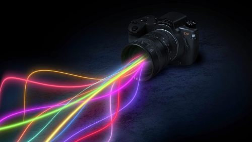 Shooting The Light Creative HD Wallpaper