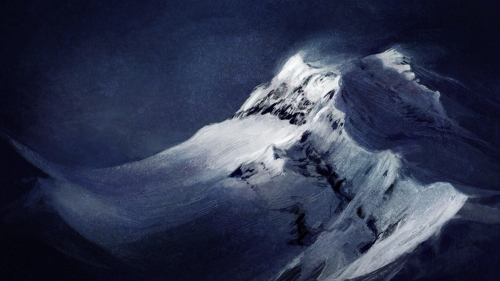 Snowy Mountain Artistic Work Paintings 2560x1600 QHD Wallpaper 44