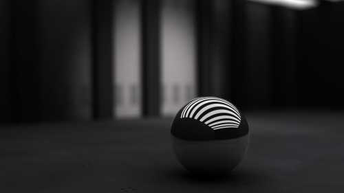 Sphere In The Dark Abstract HD Wallpaper
