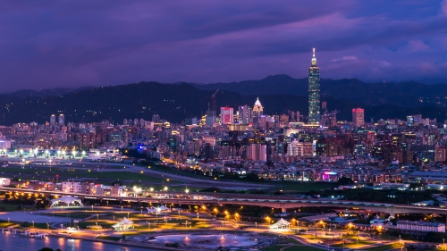 Taipei At Night City HD Wallpaper