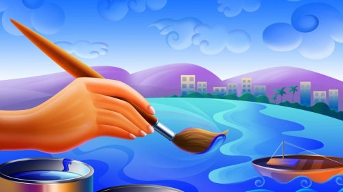 The Artist At Work Artistic Work Paintings 2560x1600 QHD Wallpaper 11