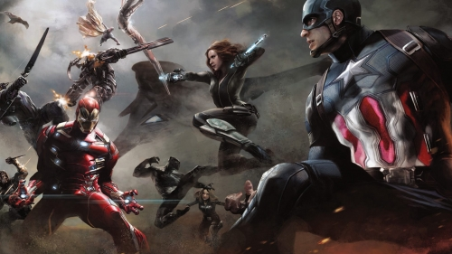 The Fight Begins Between Captain America and Iron Man HD Wallpaper