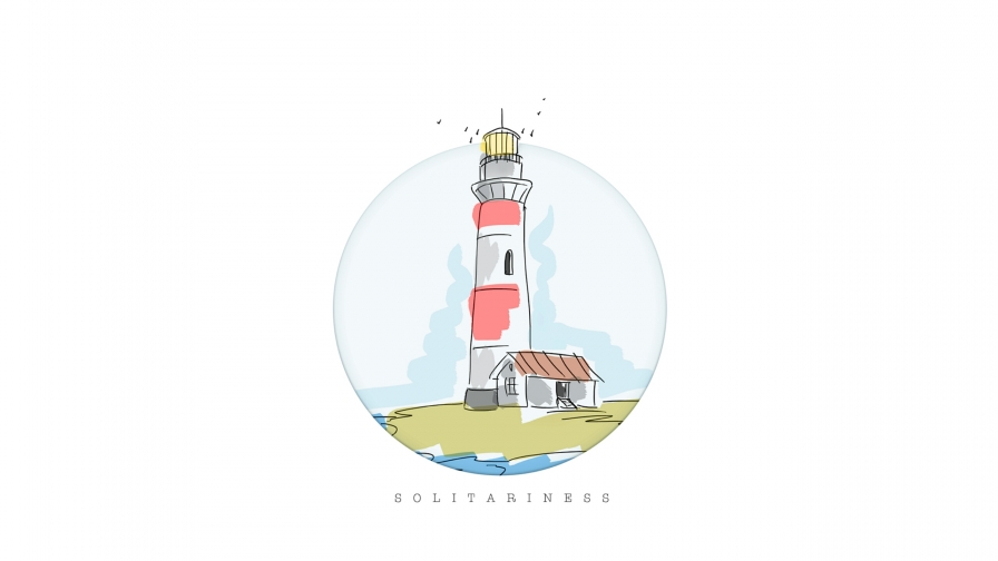 The Light House Vector QHD Wallpaper