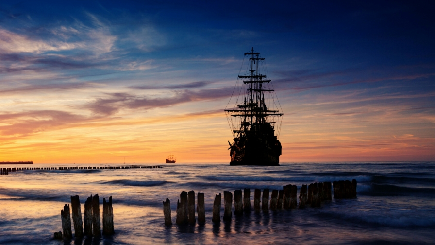 The Ship Comes Home Nature QHD Wallpaper