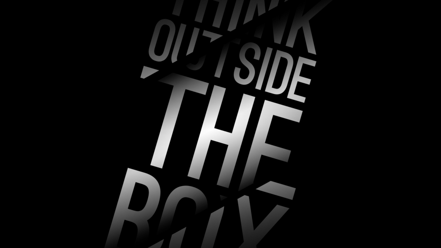 Think Outside The Box Quotes QHD Wallpaper