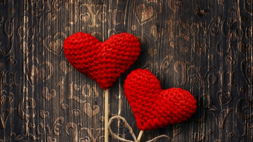 Two Woven Hearts Valentines Day Events QHD Wallpaper