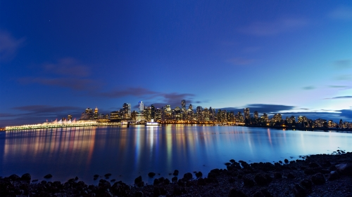 Vancouver At Dusk City HD Wallpaper